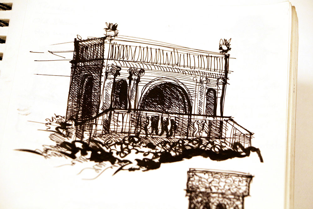Architecture study of an arch